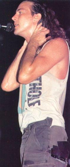 Eddie Vedder and gaffer taped pants.