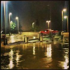 Late night rainy parking garage;  Tarzana CA, 2/2014