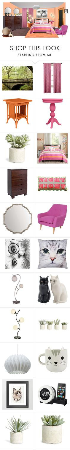 """""""bright kitty"""" by sterlingkitten ❤ liked on Polyvore featuring interior, interiors, interior design, home, home decor, interior decorating, Allstate Floral, Intelligent Design, Babyletto and Rory Dobner"""