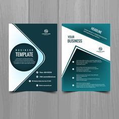 Business brochure Free Vector | Free Trifold | Pinterest ...