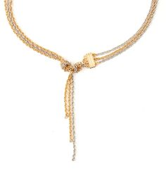 Womens gold short knot detail necklace from Warehouse - £14 at ClothingByColour.com