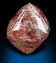 Mineral Specimens: Diamond (8.63 carat pale red-brown octahedral crystal). from Mirny, Sakha (Yakutia) Republic, Siberia, Russia