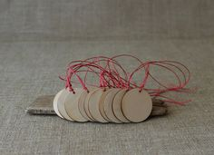 Set of 50 plywood gift tags  wooden circle tags  by NeliStudio