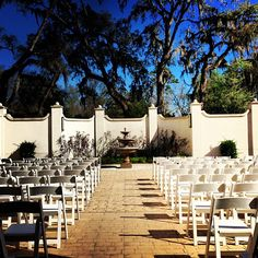 Outdoor Wedding Ceremony in our private courtyard - Mission San Luis - Tallahassee Wedding missionsanluis.org