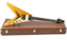 Guitare Gibson Custom Shop 1959 Korina Flying V Occasion