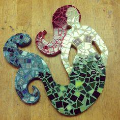 Mermaid mosaic #mermaid #mosaic #art