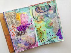 This week's take on 15 Minutes of Mixed Media - A Lesson in Art & Time Management. This week I started my 15 minute challenge with a blank two page spread. I am still working to fill up this journal, and getting close! That is exciting news because that means I have been true to this ch