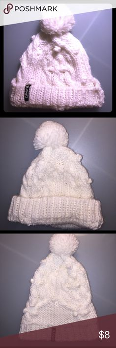 Dakine white cable knit winter hat, NEW Brand new White Dakine winter hat. Never worn. Brand new but no tags Dakine Accessories Hats