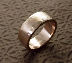 Rose Gold Wedding Band Ring 14k  Water's by someplaceelsewhere, $750.00