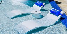 Submersible pool chaise provides comfort for lounging in-pool on your baja shelf or ledge, available in 11 colors. Shop BOXHILL for all outdoor modern style! Jacuzzi, Ledge Lounger, Moderne Pools, Backyard Pool Landscaping, Landscaping Ideas, Landscaping Software, Pool Lounge, Cool Pools, Water Crafts