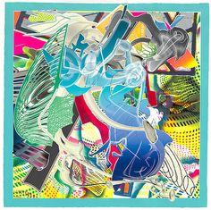 ARTE MURAL AZUL SOBRE LIENZO: ARTISTA FRANK STELLA.