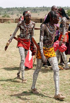 Eunoto, a Maasai ceremony - coming-of-age for young warriors.