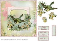 Little Birds Shabby Chic card front
