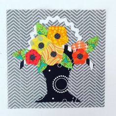 Block 38 designed by Pam Vieira-McGinnis: Vintage Flower Basket