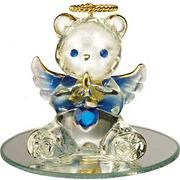 September Glass Angel Bear