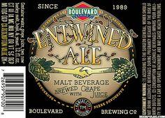 Boulevard - [Backroad Beers] Entwined Ale (New/Seasonal?) Six-Pack 12oz Bottles  4.10%  Hybrid Ale w/Muscat Grape Juice