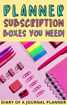 The best planner subscription boxes all bullet journal lovers need to try out! #planner #subscriptionboxes Bullet Journal Boxes, Bullet Journal Layout Templates, Bullet Journal Printables, Bullet Journal How To Start A, Mystery Box Subscription, Subscription Boxes, Printable Planner, Planner Stickers, Cool Notebooks