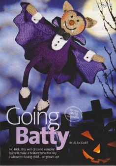 Going Batty Toy Halloween Vampire Bat by Alan Dart Knitting Pattern: Measurements tall (Simply Knitting Magazine Pull Out Pattern) Halloween Vampire, Halloween Doll, Halloween Crochet, Halloween Bats, Holidays Halloween, Vampire Bat, Simply Knitting, Knitting For Kids, Knitting Projects