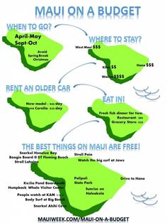 For more information on how to do Maui on a budget, see my Maui on a Budget page. Feel free to share this Maui on a Budget Infographic by using the code snippet below in it's entirety. Mahalo Hawaii, Maui Hawaii, Kauai, Hawaii Resorts, Kaanapali Maui, Hawaii Life, Kahului Hawaii, Maui Hotels, Lahaina Maui