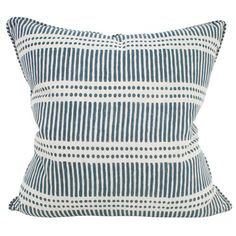 Dash Dot Indian Teal | Walter G Cushion from Salt Living Walter G cushions at Salt Living #walterg #cushions #saltliving #decor #textiles #blockprint