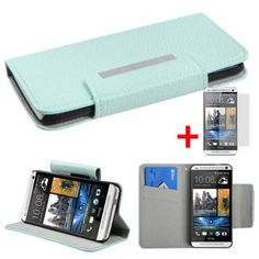 HTC ONE M7 SOLID MINT GREEN MAGNET LOCK FLIP COVER WALLET ID POUCH CASE + SCREEN PROTECTOR from [ACCESSORY ARENA] by MYBAT, http://www.amazon.com/dp/B00E0UNAT4/ref=cm_sw_r_pi_dp_.eZbsb12S9Q14