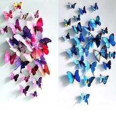 New Arrival Beautiful and Cute Butterfly 12-Piece Wall Stickers on sale, Buy Retail Price Wall Stickers at Beddinginn.com