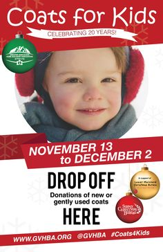 We are a proud drop off location for GVHBA's Coats for Kids!