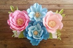 47 best paper flowers images on pinterest paper flowers large paper flowers backdrop candy bar wedding arch birthday party custom made mightylinksfo