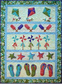 Images of batik quilts designed by Vicki Stratton, Quilting Time Designs