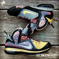 "3d3f8d54fa34 Nike LeBron 9 ""Invictus"" Customs By GourmetKickz"