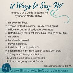 12 Ways to Say No. T