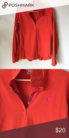 Lilly Pulitzer cotton long sleeve top Soft stretchy cotton long sleeve Lilly top. Lilly Pulitzer Tops
