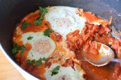 Piperade met eieren (en craquelins)