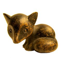 Hagenauer Cat Miniature Sculpture Wiener Werkstatte | From a unique collection of antique and modern sculptures at https://www.1stdibs.com/furniture/more-furniture-collectibles/sculptures/