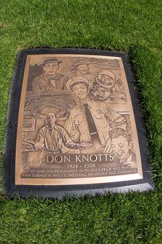 Don Knotts TV/Film Actor Grave Location: Westwood Memorial Park Los Angeles Cal. Cemetery Statues, Cemetery Headstones, Old Cemeteries, Cemetery Art, Graveyards, Angel Statues, Famous Tombstones, Don Knotts, Famous Graves