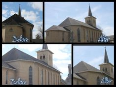 Church Re-Roof completed by Badgerland Restoration and Remodeling Inc
