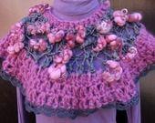 chauffe épaules, laine filée main