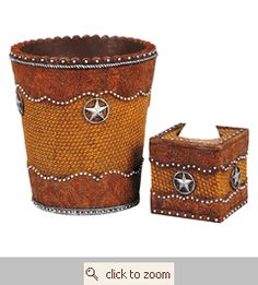 And who wouldn't want the matching trash can and tissue box?