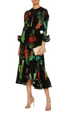 Johanna Ortiz Nambia Silk Crepe Dress