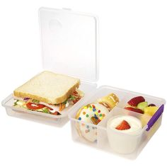 Sistema Purple Max Lunch Cube ($7.99) ❤ liked on Polyvore featuring home, kitchen & dining, food storage containers, lunch storage containers, food safe storage containers, bpa free food storage containers, lunch container and freezer container