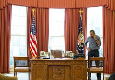 President Obama chats with Vladimir Putin regarding the political crisis in Ukraine, 3/1/14