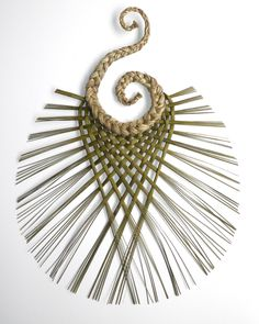 Flax Hook Weaving - Wall hanging art mad in New Zealand