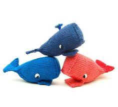 whale amigurumi plush toy knit pattern