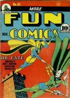 MORE FUN COMICS 61, DR. FATE, GOLDEN AGE DC COMICS