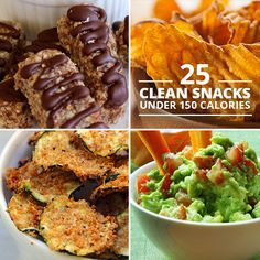 "Lose weight and stay healthy by choosing snacks that nourish your body. Say ""See ya!"" to junk food and try these 25 clean snacks under 150 calories."