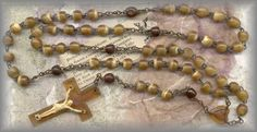 IRISH HORN beads ROSARY from the 1950s
