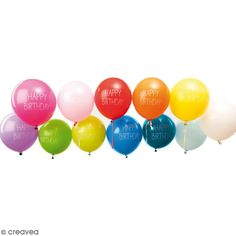 Compra nuestros productos a precios mini Globos Happy Birthday Rico Design YEY - Multicolor - 30 cm - 12 uds - Entrega rápida, gratuita a partir de 89 € !
