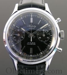 1950s steel vintage Berkeley chronograph watch (3146) - Olde Timers