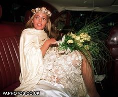 Actress Patsy Kensit leaves Chelsea register office after her marriage to Simple Minds rock singer Jim Kerr in 1992.