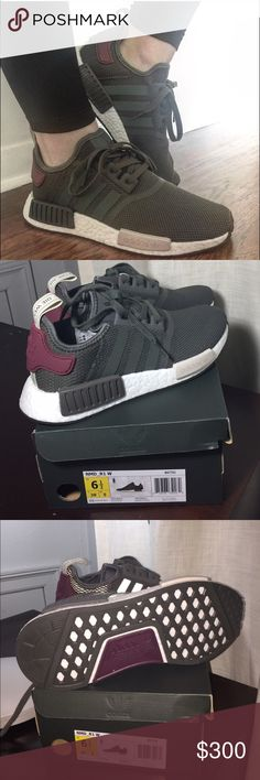 b38f41d4b coupon code adidas nmd r1 utility grey maroon trainer sale. discount 2d778  f5ca1  ireland authentic adidas nmd r1 womens 6.5 73eb1 b3f3b